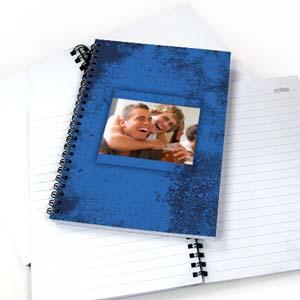 Notizbuch Moderne Struktur Blau