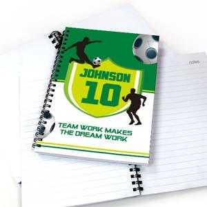 Personalisiertes Notizbuch Fußball