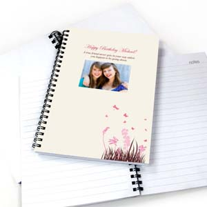 Foto-Notizbuch Frühling Pink