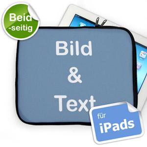 Beidseitig Personalisierte iPad Tasche Querformat