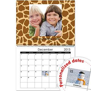 Wildes Design Wandkalender 35,6 cm x 27,9 cm