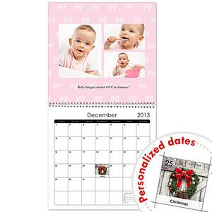 Quadratischer Wandkalender Zartrosa 30,5 cm x 30,5 cm