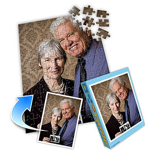 Foto-Puzzle Pensionierung, vertikal