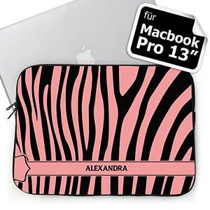 Pink Zebra Schwarz & Pink  MacBook Pro 13 Tasche (2015)