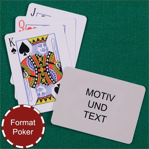 Standard Spielkarten mit individualisierbarer Rückseite im Querformat