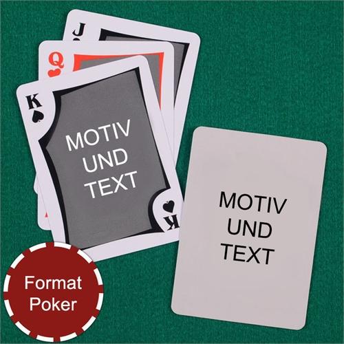 Spielkarten mit anpassbarer Vorder- und Rückseite im modernen Stil