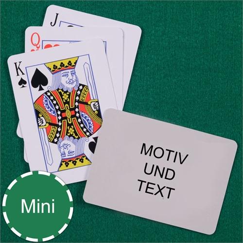 Mini Spielkarten Standard Index Querformat