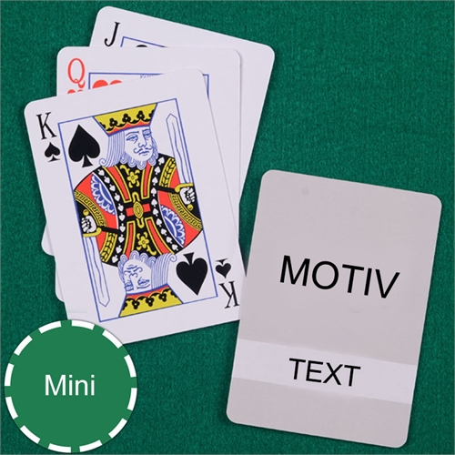 Mini Spielkarten Klassisch Transparent Standard Index