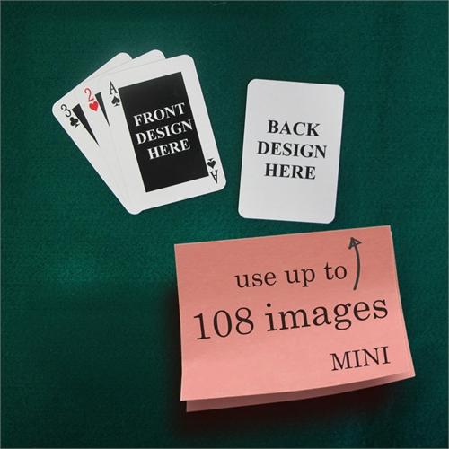 Mini Spielkarten Klassisch Beidseitig personalisieren