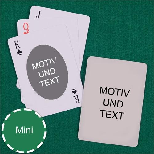 Mini Kartenspiel Oval Beidseitig Personalisierbar