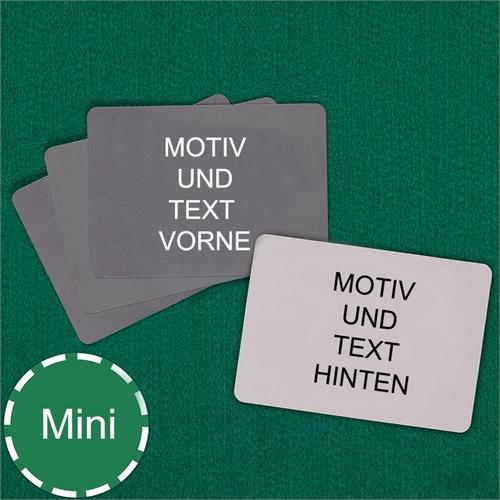 Komplett individualisierbare Mini Kartenspiel- Querformat