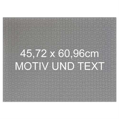 Personalisiertes Riesenpuzzle Querformat 46x62cm 500 Teile