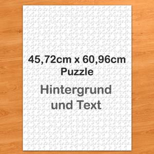 Personalisiertes Riesenpuzzle Hochformat 46x62cm 500 Teile