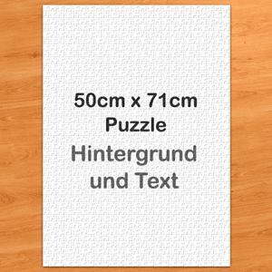 51cmx70cm  Fotopuzzle 1000 Teile Hochformat Hintergrundfarbe und Text