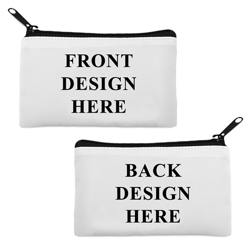 Schminktäschchen Ihr Design 12,7 x 22,3 cm Zwei Seiten zwei Fotos