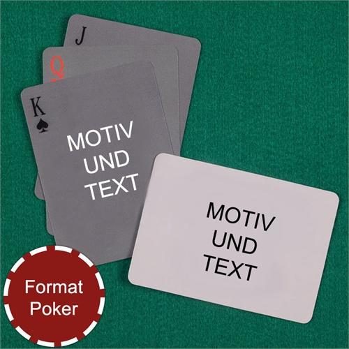 Spielkarten mit anpassbarer Vorder- und Rückseite quer im einfachen Stil