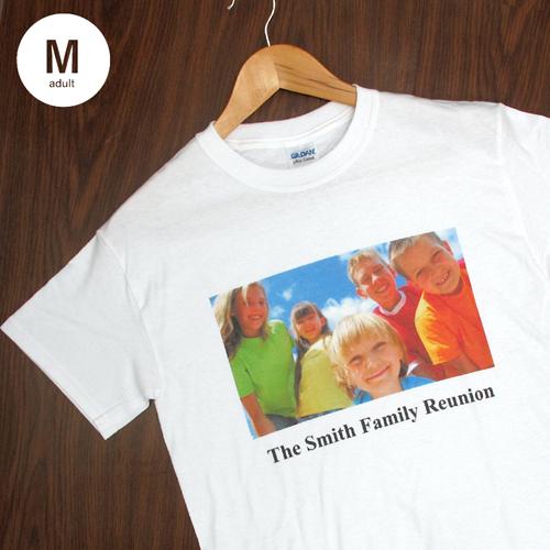 Größe M, T-Shirt, Weiss, Foto & Text, Personalisiert, 100% Baumwolle