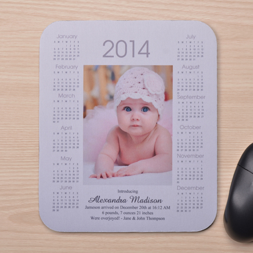 Portrait Calendar 2014 White