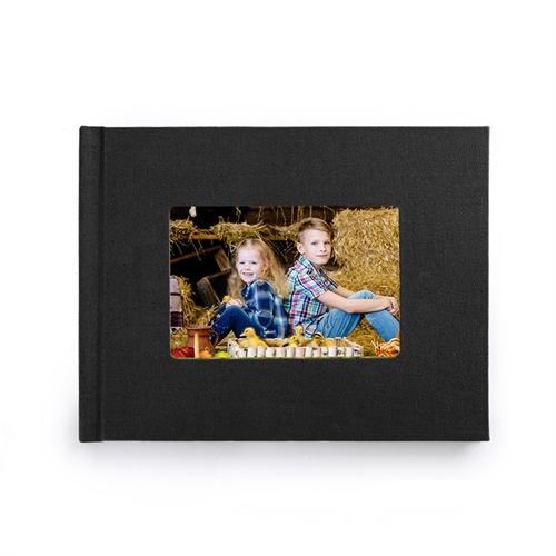 Fotobuch 21,3 x 27,9 cm Schwarzes Leinen Gebunden