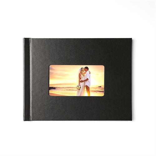Fotobuch 21,3 x 27,9 cm Schwarzes Leder gebunden