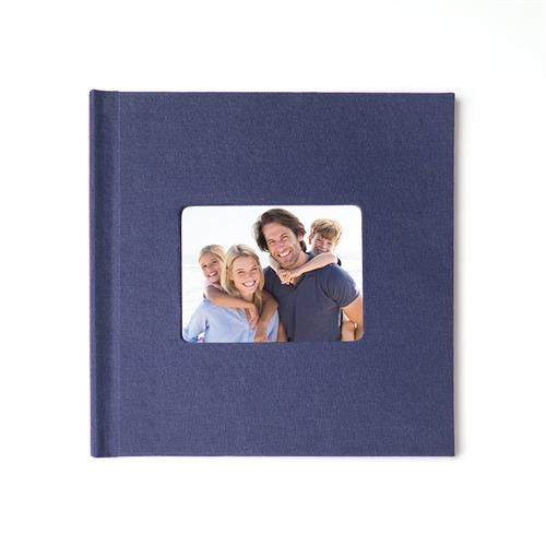 Fotobuch 30,5 x 30,5 cm Navy Blau Leinen Gebunden