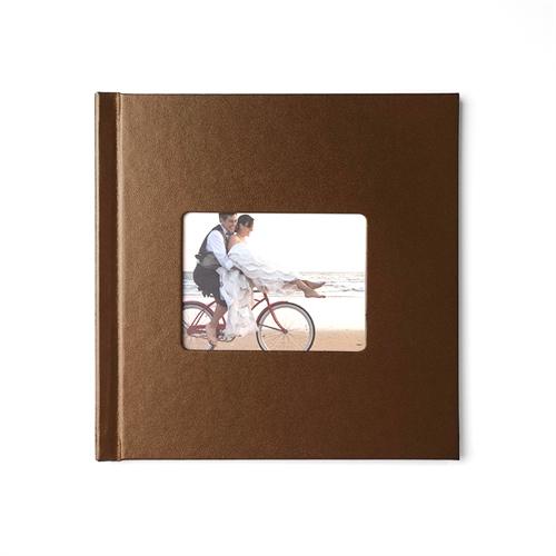 Fotobuch 30,5 x 30,5 cm BRAUN Leder Gebunden
