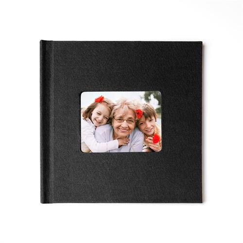 Fotobuch 20,3 x 20,3 cm  Schwarzes Leinen gebunden