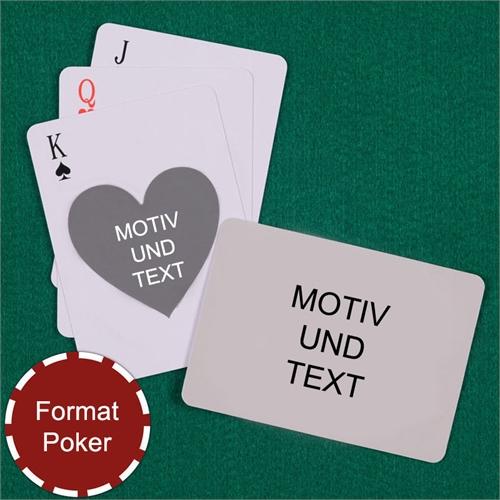 Spielkarten mit anpassbarer Vorder- und Rückseite im Herzform-Stil