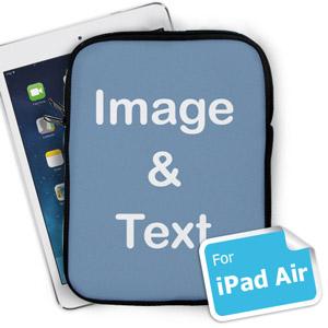 """Design iPad Air Sleeve Hochformat Hintergrundfarbe Personalisiert 11"""" bzw 17,1 x 24,5 cm"""