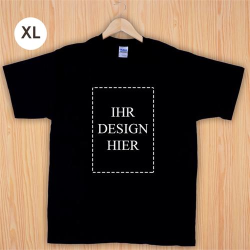 Größe XL T-Shirt Schwarz Hochformat Personalisiert 100% Baumwolle