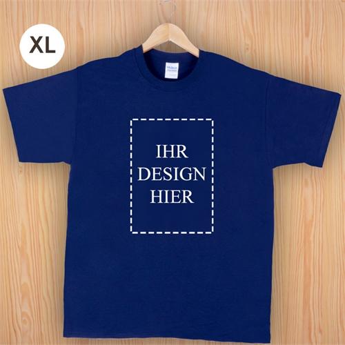 Größe XL T-Shirt Navy Dunkelblau Hochformat Personalisiert 100% Baumwolle