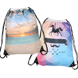 Full Color Print Drawstring Backpack